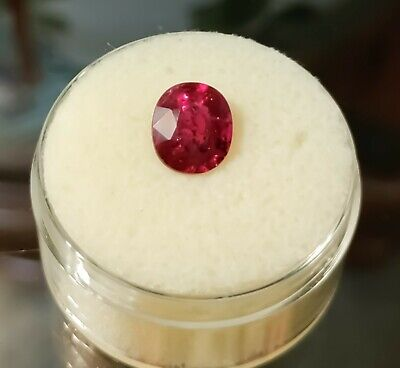 Natural ruby pear 10x7 mm Mozambique
