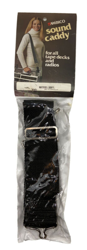 Vintage AMBICO Boom Box Sound Caddy Strap – New Old Stock – 1970s