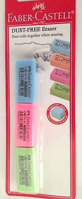 Faber Castell Dust Free Eraser 3pcsset