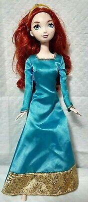 "Mattel Barbie Disney Pixar Brave Merida 11"" Blue Dress Scottish Doll amputee sad"