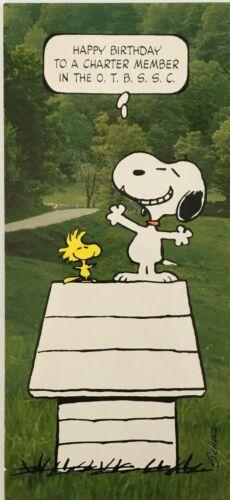 Peanuts Schultz Hallmark Birthday Card Snoopy Over Thirty Swinging Club (CB8)