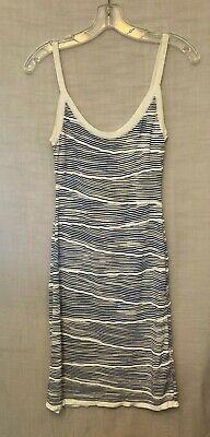 Missoni Sport Blue White Knit Tank Dress Sz S