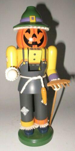 """Seiffener Erzgebirgische Volkskunst Nutcracker Scarecrow Halloween 11½"""""""