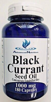 Gluten Free Oils - Black Currant Seed Oil 180 Caps 1000mg Gamma Alpha Linolenic Acid Gluten Free