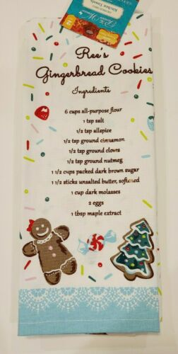 NEW! PIONEER WOMAN CHRISTMAS KITCHEN TOWELS~GINGERBREAD~RECIPE INCLUDED
