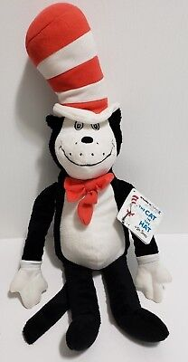 Kohl's Cares Plush Cat In The Hat Black and White Cat Dr. Seuss 2013 22