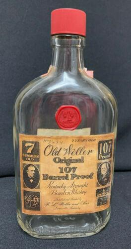 Vintage! Old Weller Original 107 Barrel Proof #3634 Dusty Empty Bottle FS 1970