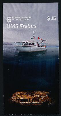 Canada 2856a Booklet MNH HMS Erebus, Franklin Expedition