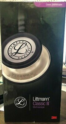 Littmann Classic Iii 27 Inch Stethoscope Black With Silver Finish Chest Piece