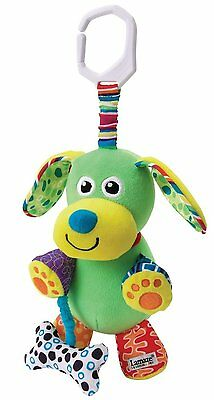 Lamaze Play & Grow Pupsqueak Take Along Toy Plush Dog Stroller Crib Car Seat Pup
