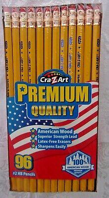 Wholesale Bulk Lot Of 96 Yellow No.2 Pencils Crazart School Home Office Usa