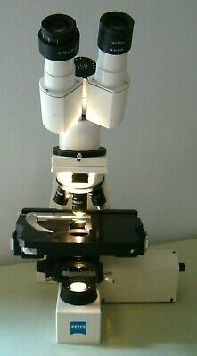 Zeiss Axiolab Re W Motorized Stage And Focusing Infinity Four Objectives