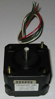 Unipolar Stepper Motor - 100 Steps Rev - Nema 17 - 3.6 Deg - 24v - Howard Indu