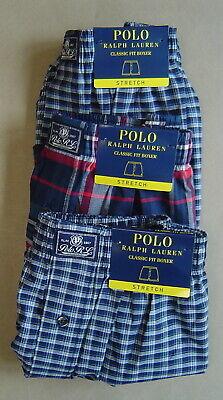 NWT$84 POLO RALPH LAUREN Set of 3 Sz M 31 34 Boxer Underwear STRETCH CLASSIC-FIT