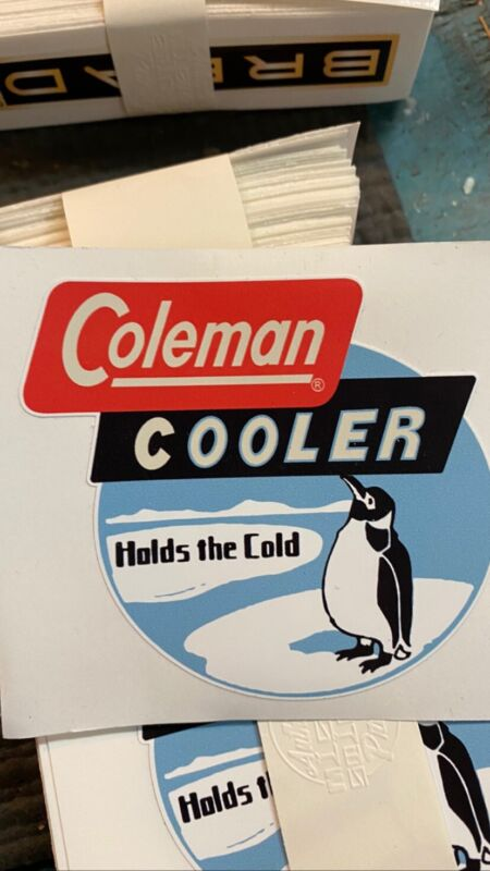 Coleman Cooler Penguin Cooler Ice Chest Vintage Reproduction Decals