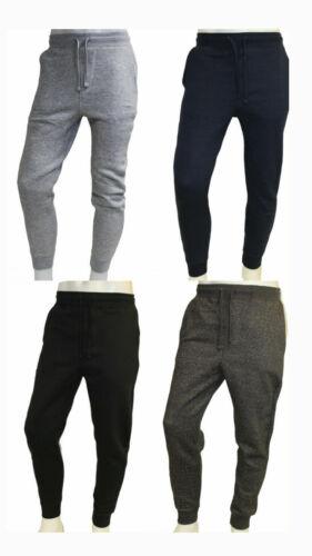New Mens Fleece Slim Fit Jogger Sweat Pants In Black, Blue, Grays M,l,xl,xxl