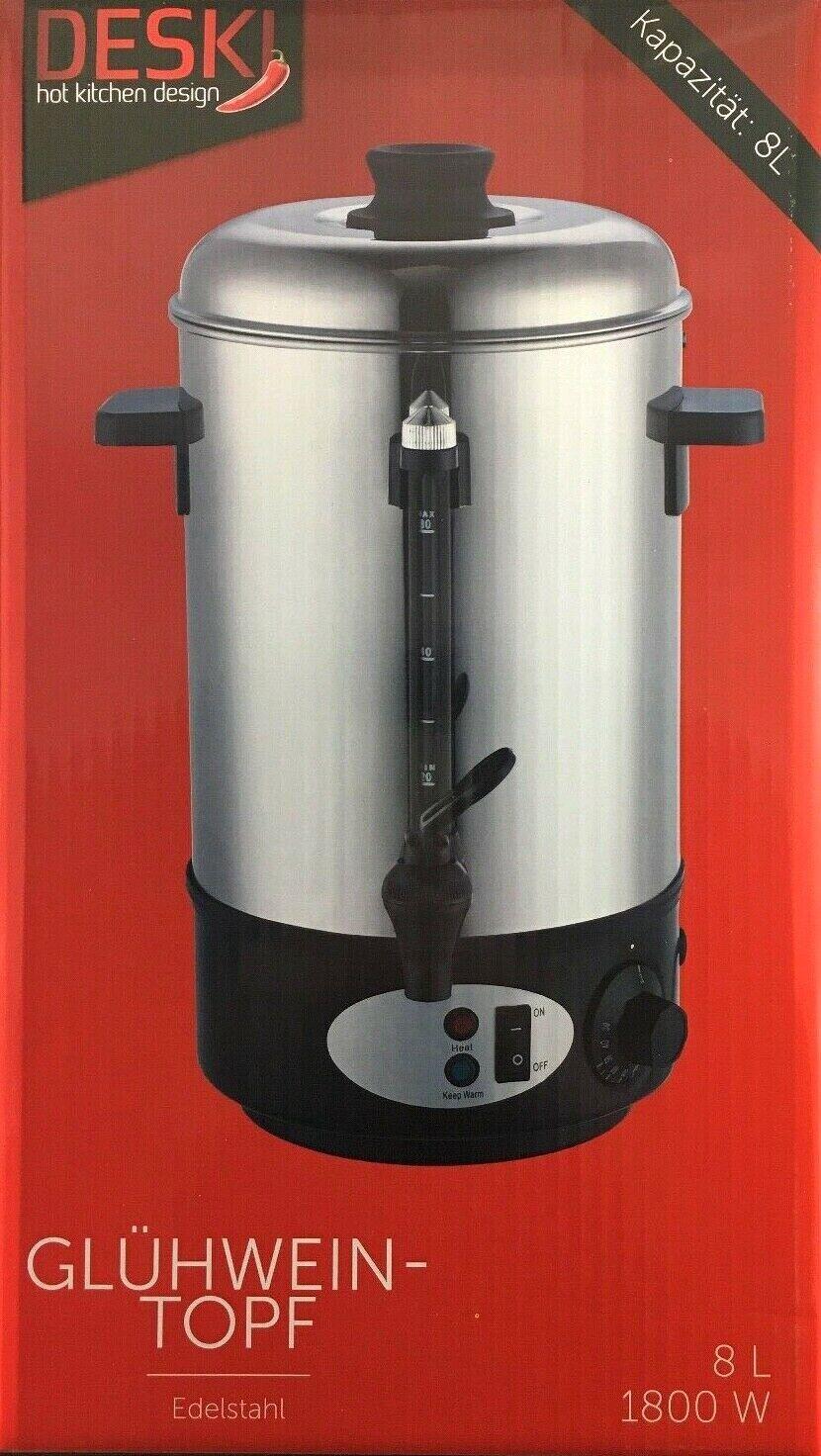 8 L Glühweinkocher Edelstahl 1800 Watt Teekocher Kessel 8 Liter oder Ersatzteile