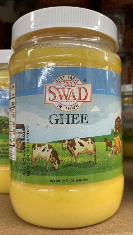 Swad Ghee (clarified Butter) 32 Oz. Plastic Bottle