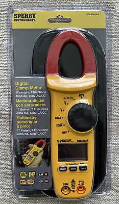 Sperry Instruments Dsa500a Digital Clamp Meter 400a Ac 600v Cacc