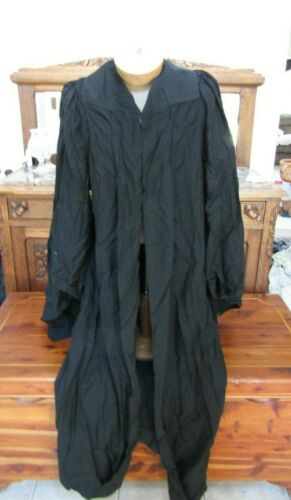 Antique IOOF Odd Fellows Fraternal Organization Black Robe- With Metal Clasps