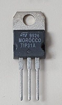 Tip31a St Microelectronics General Purpose Bjt To-220 Npn 60v 3a New