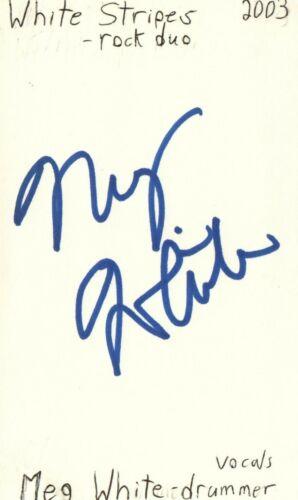 Meg White Drummer White Stripes Rock Music Autographed Signed Index Card JSA COA