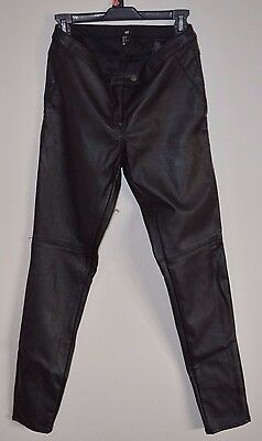 H & M Faux Leather Pants Black Stretch Motorcycle Moto Biker Party L30.75  W15 for sale  North Street