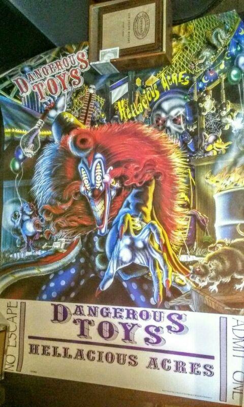 DANGEROUS TOYS HELLACIOUS ARCES 1991 PROMO POSTER HEAVY METAL ORIGINAL