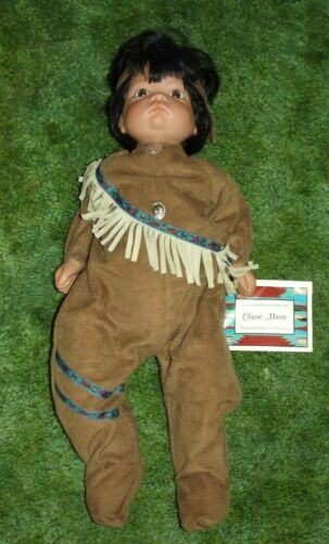 """Claire Marie Native American Sugar Britches Porcelain 22"""" Indian Baby Doll MWT"""