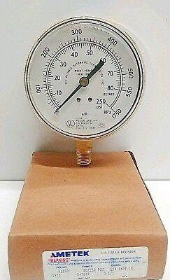 New Old Stock Ametek 3-12 0-250 Psi Fps Pressure Gauge R1590