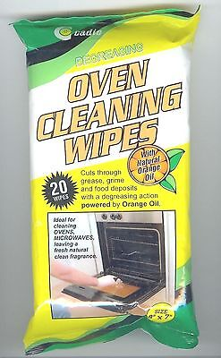 CADIE DEGREASING OVEN CLEANING WIPES with natural orange oil 20 WIPES