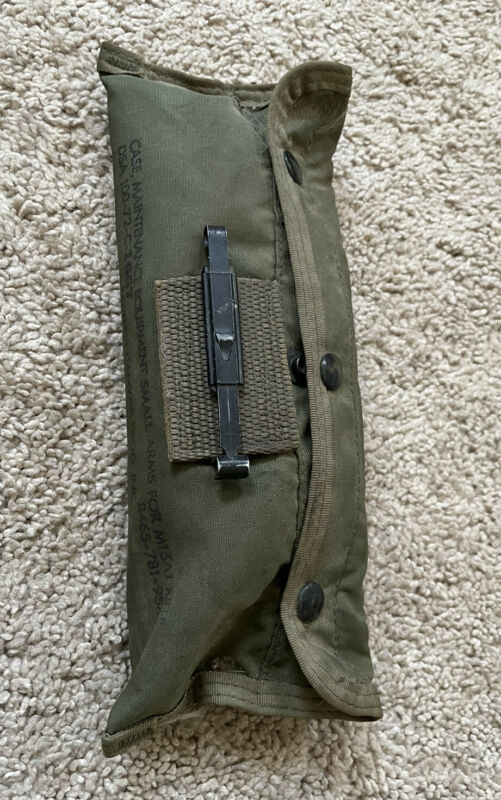 Vietnam War US Army Rifle Cleaning Kit 1972 Not Complete