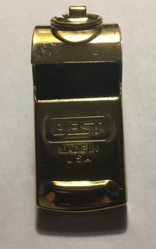 SOLID BRASS WHISTLE...MADE IN USA AND NEW!