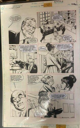 MODESTY BLAISE DC GRAPHIC NOVEL DICK GIORDANO ORIGINAL ART PAGE #21  #oa-1199