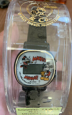 Mickey & Minnie Mouse Vintage Digital Lorus Watch Musical Theme Disney NOS