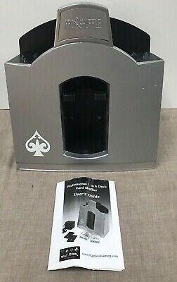 PRO SHUFFLE 1-6 DECKS CARD SHUFFLER AC/BATTERY by WAY COOL GAMING - WORKS - EUC!
