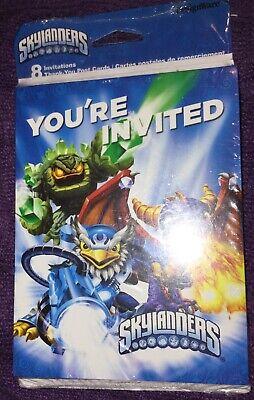 Skylanders  Birthday Party Invitations & Thank You Postcards W/ Envelopes New](Skylanders Invitations)
