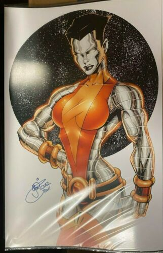 SEXY COLOSSUS FEMALE GW FISHER SIGNED PRINT 11 x 17 #oa-1098