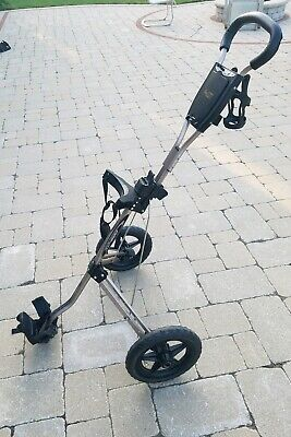 BAG BOY SC-500 Folding Golf Cart - Pull Cart- 2 Wheels Silver/Black VERY -