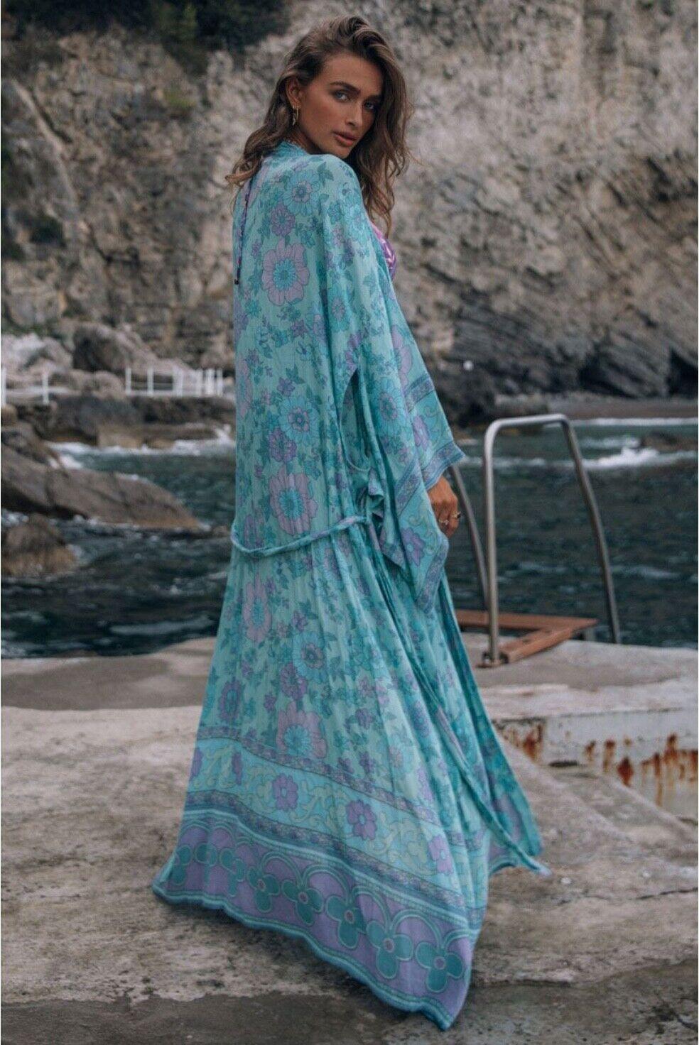 🦄 BNWT Spell & The Gypsy Collective Buttercup Robe / Kimono Size S/M OCEAN