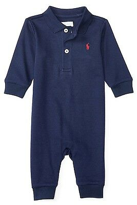 BNWT Ralph Lauren Polo Baby Boys Romper Coverall Babygrow 3M - 6M RRP £59