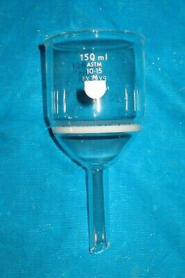 Pyrex 150ml Glass M Medium Fritted Funnel 36060 Astm 10-15