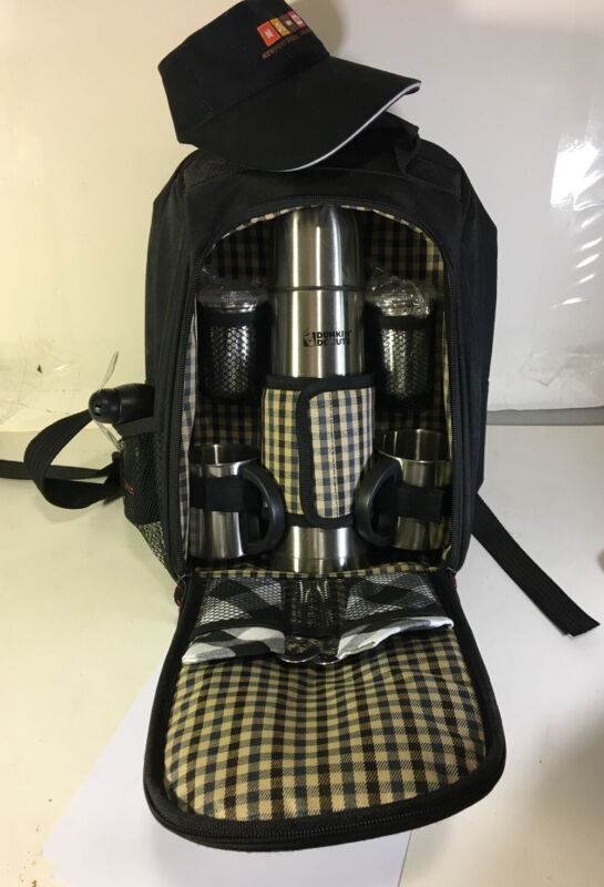 Dunkin Donuts Picnic Backpack / Stainless Steel Thermos and accessories