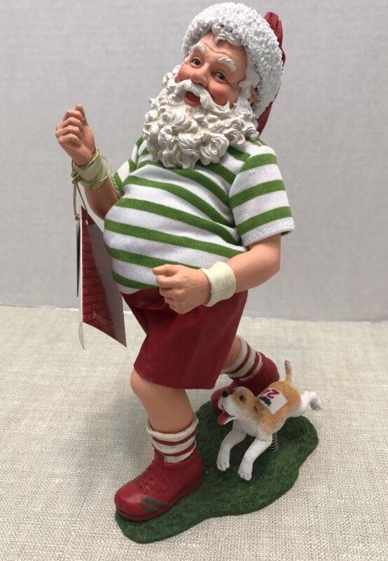 "2005 Possible Dreams Clothtique Santa Jogging with Dog ""Christmas Merrython"""