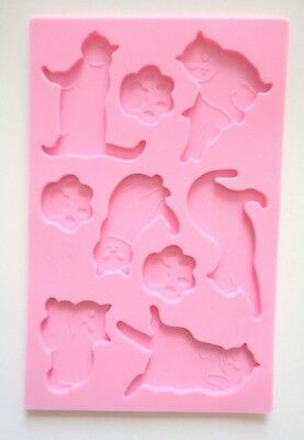 Silicone Mold Animal Cat Chocolate Gummi Gummy Candy New  - Gummy Cat