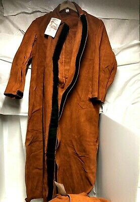 Elliot Red Ram Leather Welding Coat Soft Durable Length 48 Rr36 Usa Made S Or M