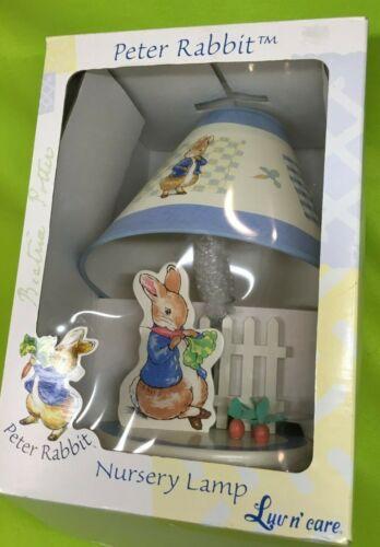 Peter Rabbit Nursery Lamp With Shade Beatrix Potter NIB 2001