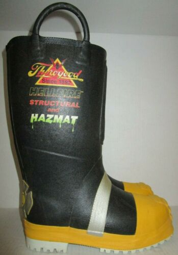 THOROGOOD HELLFIRE STRUCTURAL AND HAZMAT FIREFIGHTING BOOTS size 8 M WIDE NEW !!