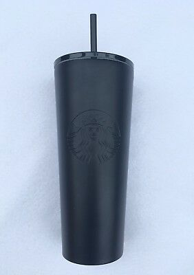 NEW 2018 STARBUCKS COLD CUP MATTE BLACK STAINLESS STEEL TUMBLER 24 fl oz (Cold Tumbler Cup)