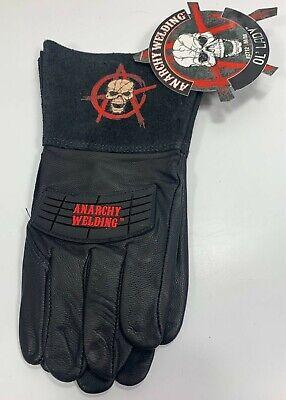 Watson Gloves Size M Medium Womans Anarchy Welding Black Red Ol Lady 2712 2712